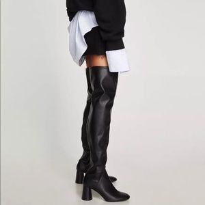 zara over the knee boots 38